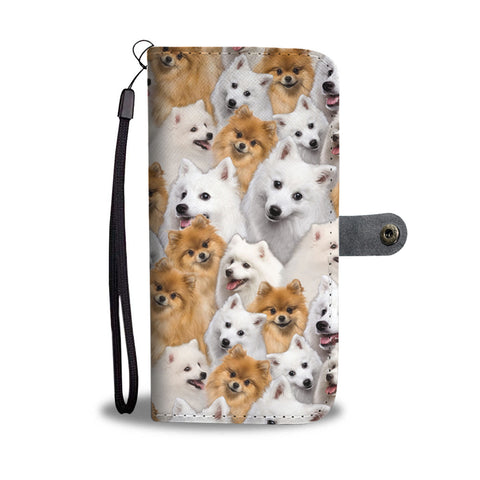 Japanese Spitz Full Face Wallet Case