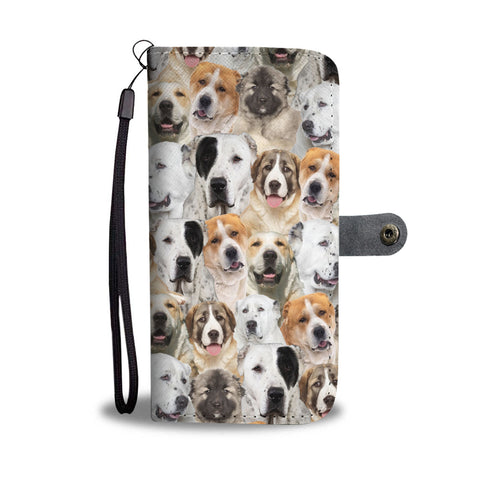 Central Asian Shepherd Dog Full Face Wallet Case
