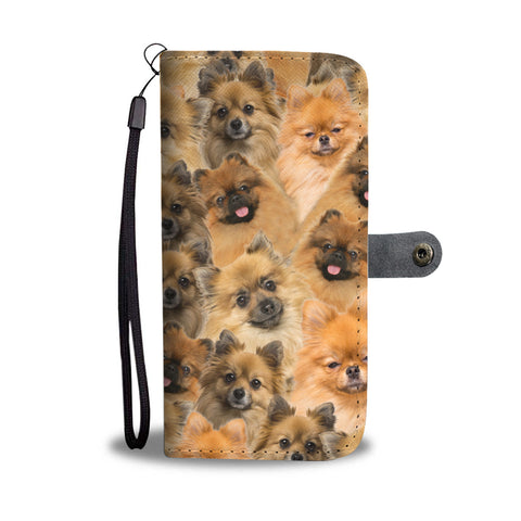 German Spitz Full Face Wallet Case