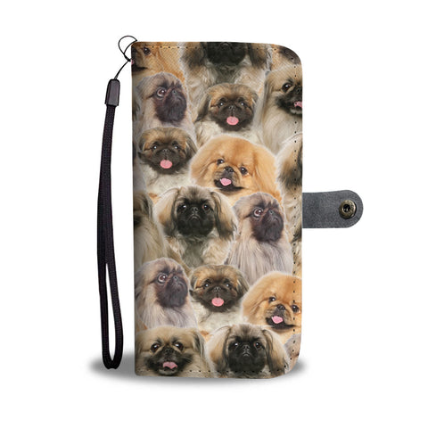 Pekingese Full Face Wallet Case