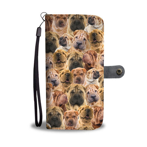 Shar Pei Full Face Wallet Case