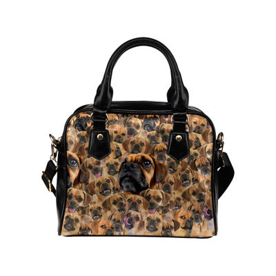 Puggle Face Shoulder Handbag