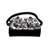 Boston Terrier Face Shoulder Handbag