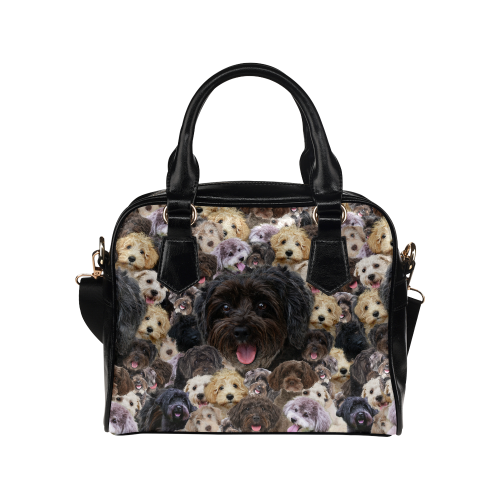 Schnoodle Face Shoulder Handbag