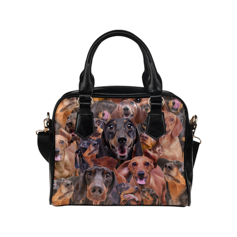 Dachshund Face Shoulder Handbag