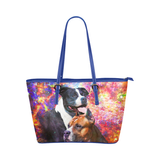 American Staffordshire Terrier Leather Tote Bag
