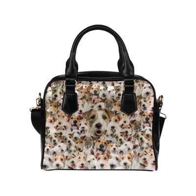 Fox Terrier Face Shoulder Handbag