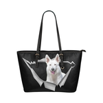 Berger Blanc Suisse Leather Tote Bag