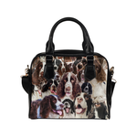 English Springer Spaniel Face Shoulder Handbag