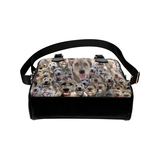 Irish Wolfhound Face Shoulder Handbag