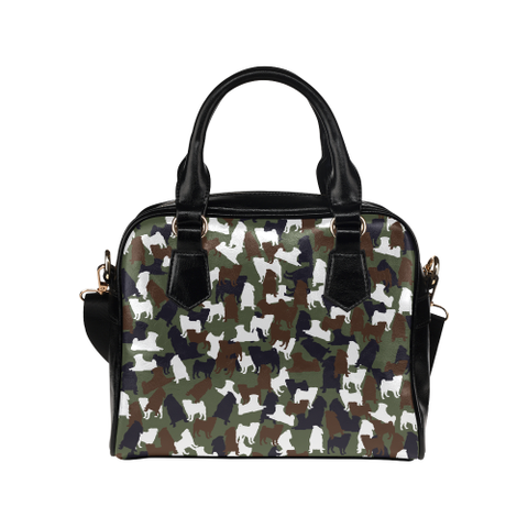 Pug Camo Shoulder Handbag