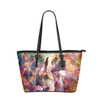 English Mastiff Leather Tote Bag