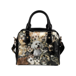 Morkie Face Shoulder Handbag