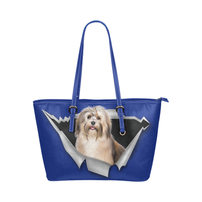 Havanese Leather Tote Bag