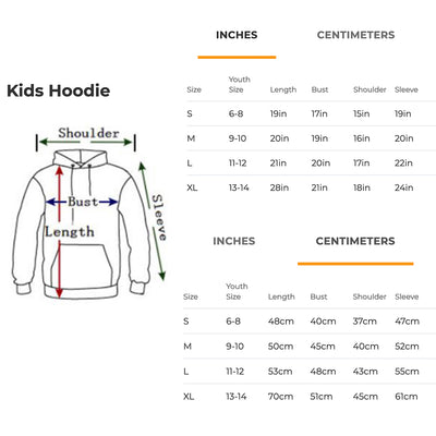 French Bulldog Full Face Kids Hoodie