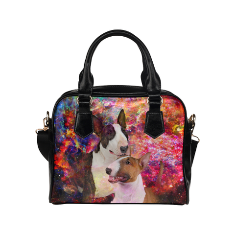 Bull Terrier Yin Yang Shoulder Handbag