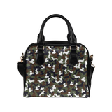 Dachshund Camo Shoulder Handbag