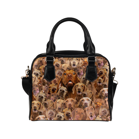 Vizsla Face Shoulder Handbag