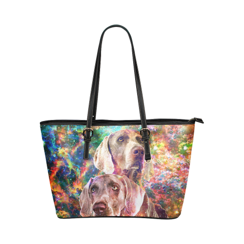 Weimaraner Leather Tote Bag
