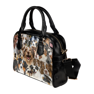 Australian Shepherd Face Shoulder Handbag