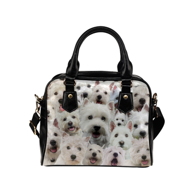 West Highland White Terrier Face Shoulder Handbag