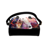 Samoyed Yin Yang Shoulder Handbag