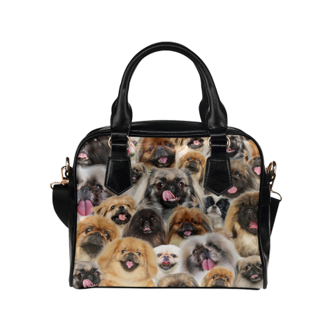 Pekingese Face Shoulder Handbag