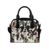 Border Collie Face Shoulder Handbag