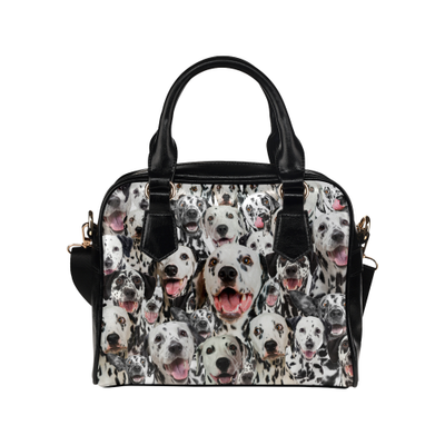 Dalmatian Face Shoulder Handbag
