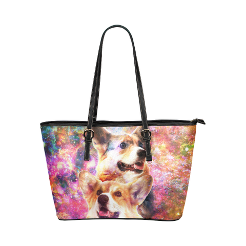 Pembroke Welsh Corgi Leather Tote Bag