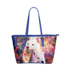 Samoyed Leather Tote Bag