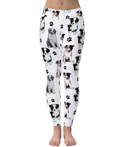 Border Collie Paw Leggings