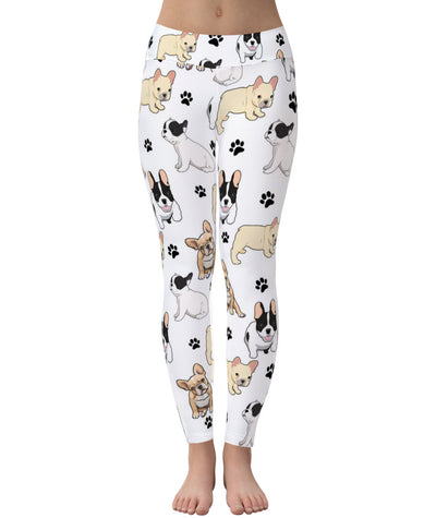 French Bulldog Paw Leggings