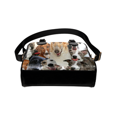 Sighthound Face Shoulder Handbag