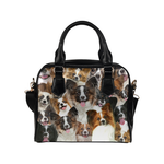 Papillon Face Shoulder Handbag