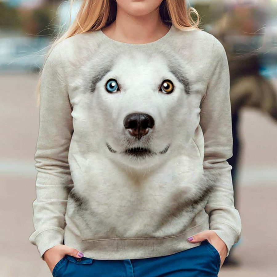 Alaskan Dog - Face Hair - Premium Sweatshirt