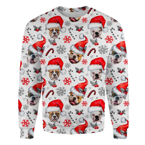 American Bulldog Xmas Decor Sweatshirt
