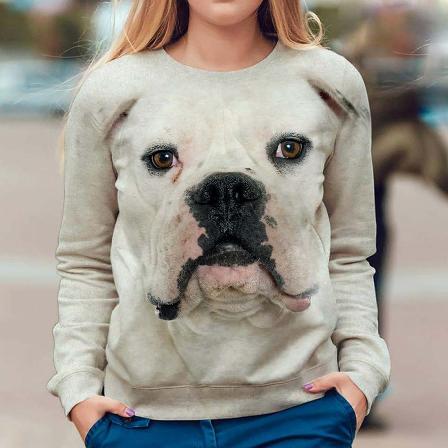 American Bulldog - Face Hair - Premium Sweatshirt