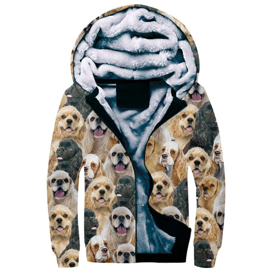 American Cocker Spaniel Full Face Fleece Hoodie