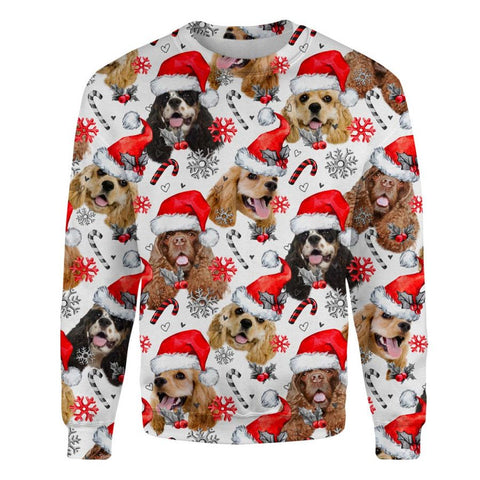 American Cocker Spaniel Xmas Decor Sweatshirt