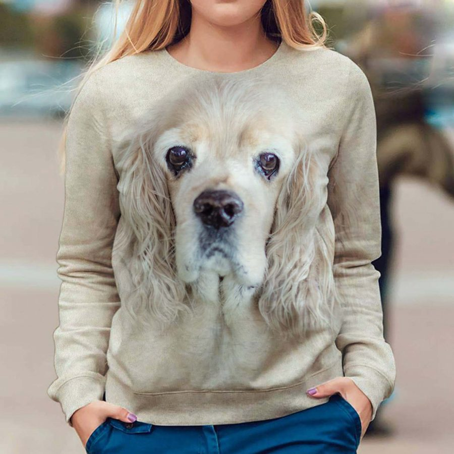 American Cocker Spaniel - Face Hair - Premium Sweatshirt