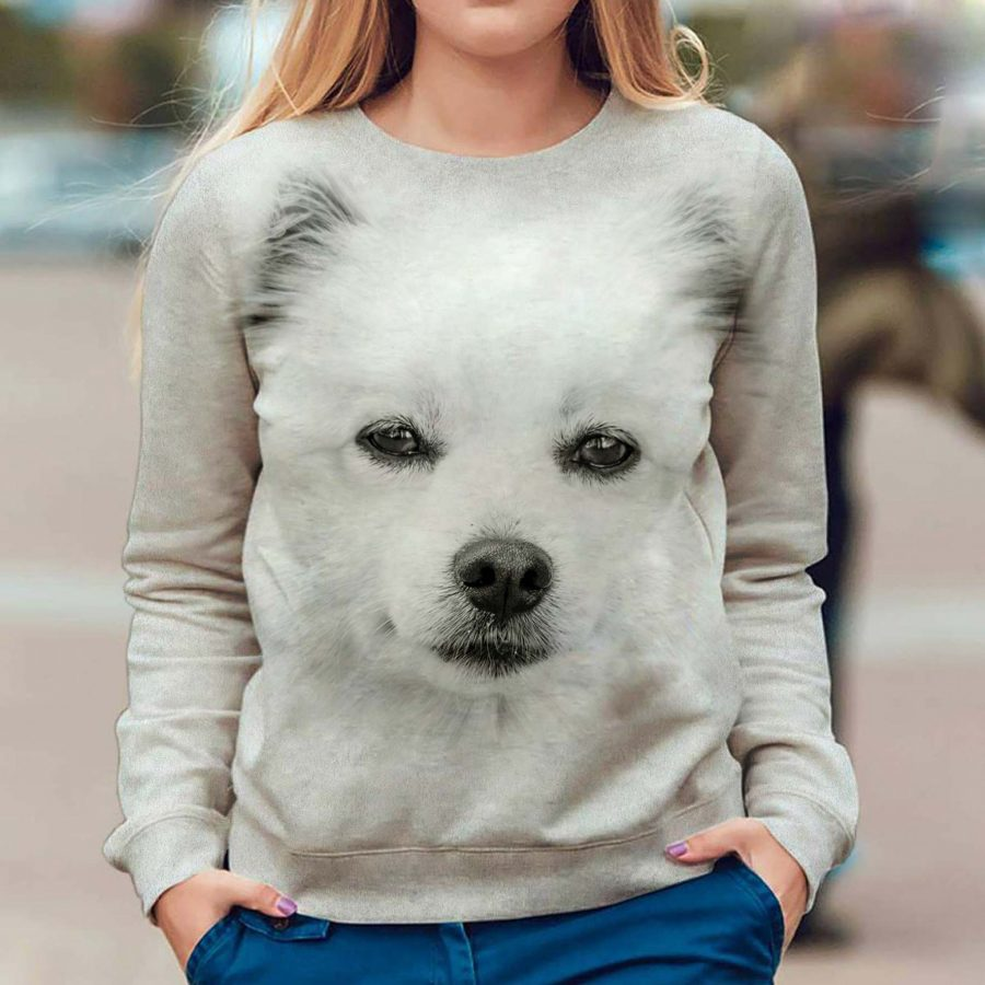 American Eskimo Dog - Face Hair - Premium Sweatshirt