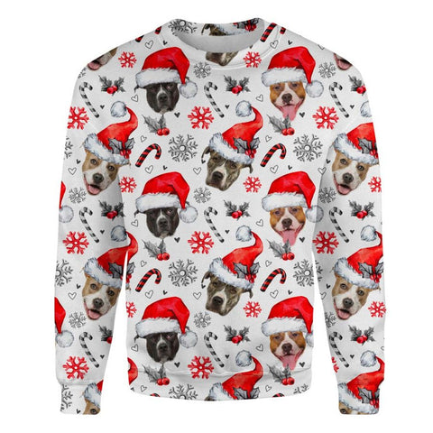 American Staffordshire Terrier Xmas Decor Sweatshirt