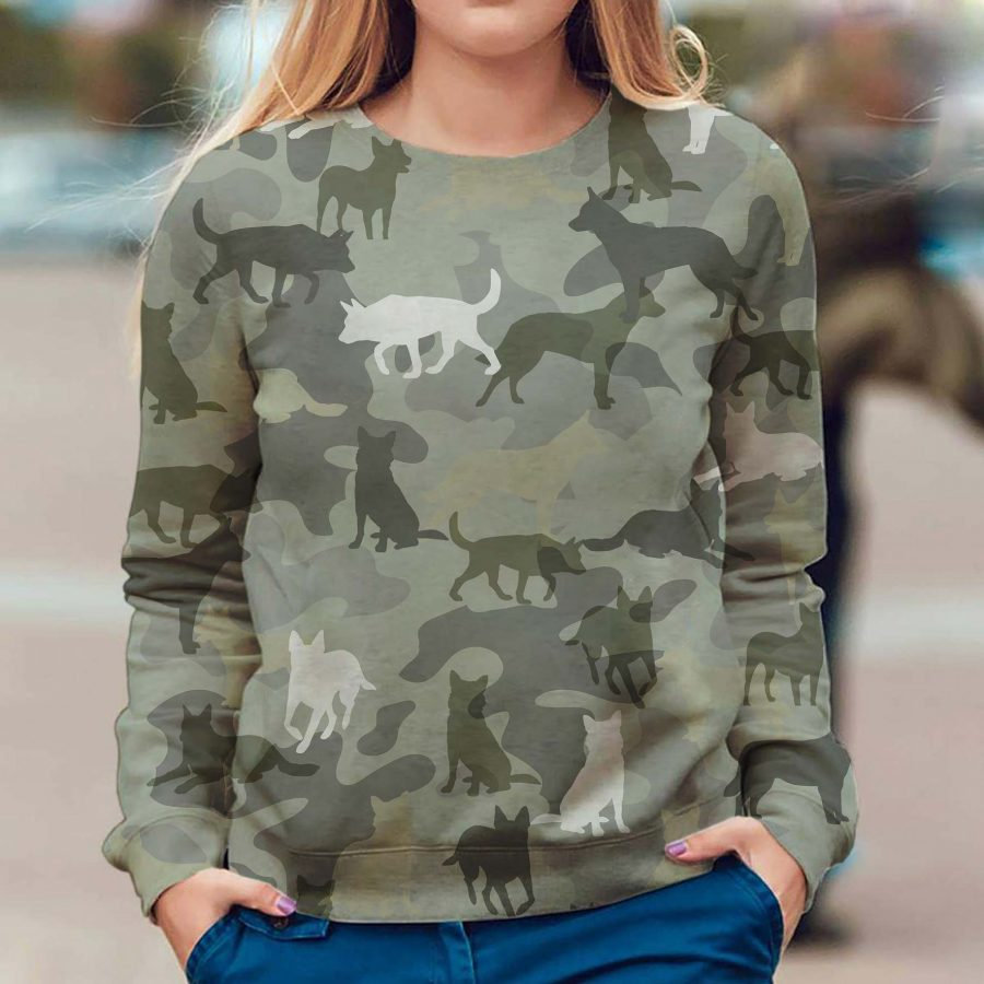 Australian Cattle Dog - Camo - Premium Sweatshirt