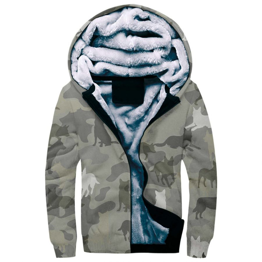 Australian Cattle Dog Camo Fleece Hoodie