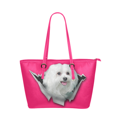 Maltese Leather Tote Bag