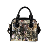 Belgian Shepherd Dog Malinois Face Shoulder Handbag