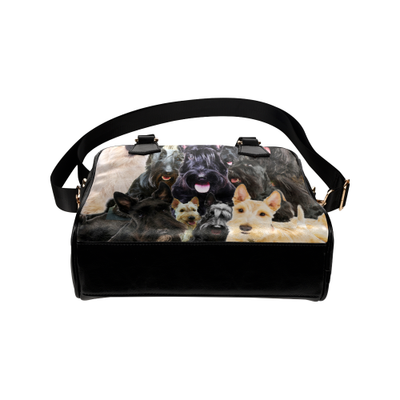 Scottish Terrier Face Shoulder Handbag