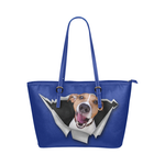 Jack Russell Terrier Leather Tote Bag
