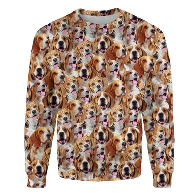 Beagle - Full Face - Premium Sweatshirt